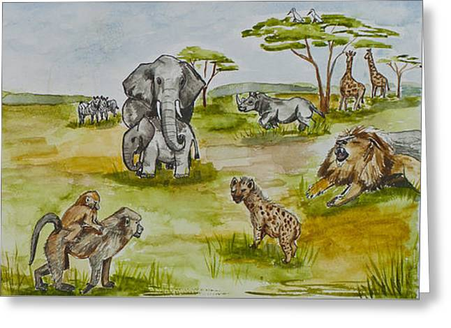 Happy Africa Greeting Card