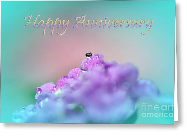 Happy Anniversary Greeting Card by Kaye Menner