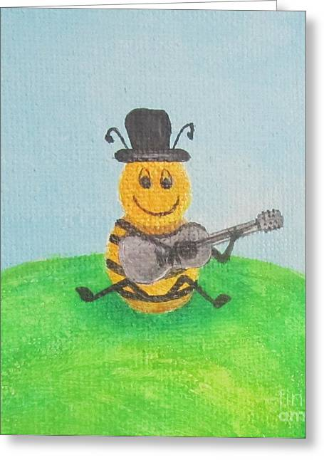 Happy Bee Greeting Card by Jeepee Aero