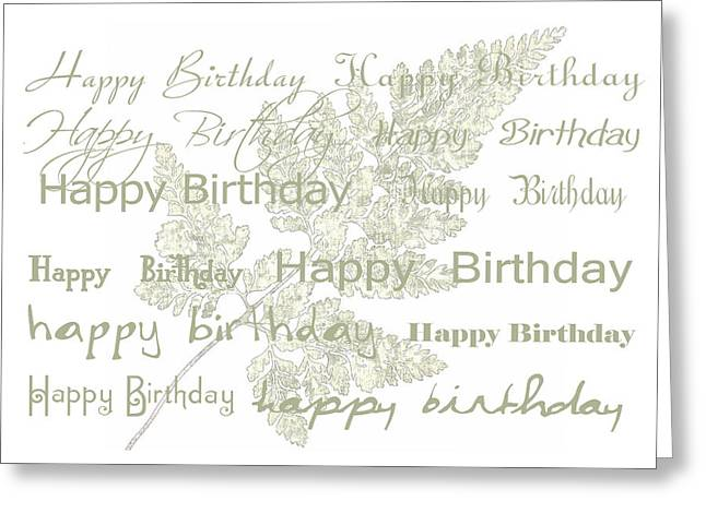 Greeting Card featuring the photograph Happy Birthday Card by Sandra Foster