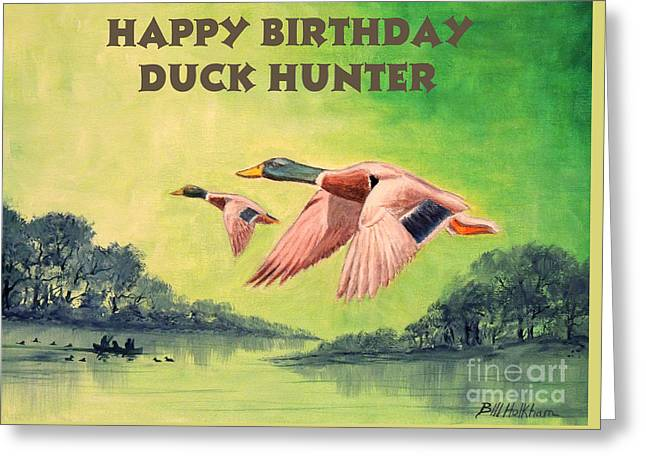 Happy Birthday Duck Hunter Greeting Card