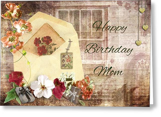 Happy Birthday Mom Greeting Card