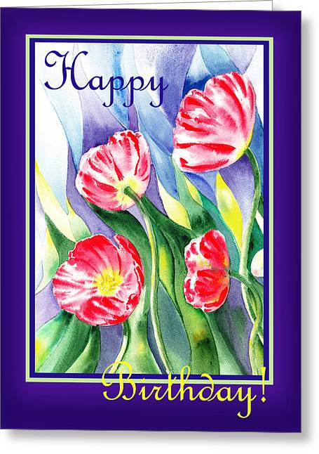 Happy Birthday Poppies Greeting Card