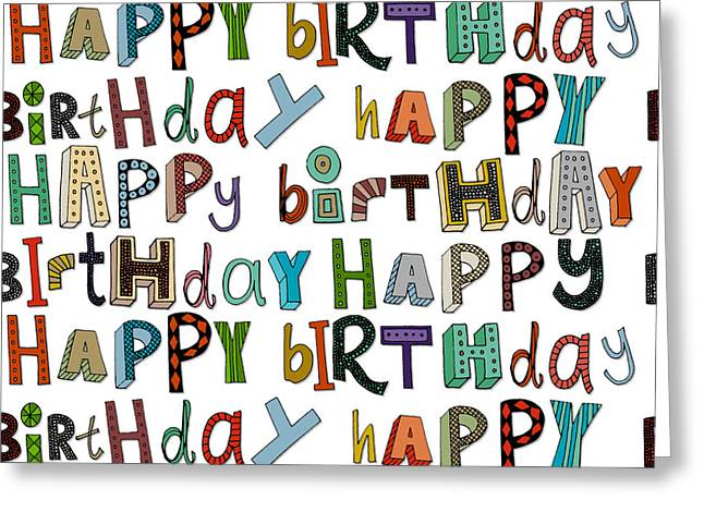 Happy Birthday White Greeting Card