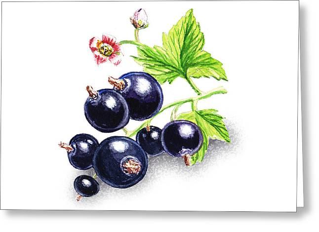 Happy Blackcurrant  Greeting Card by Irina Sztukowski