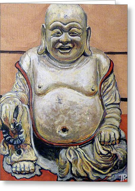 Happy Buddha  Greeting Card