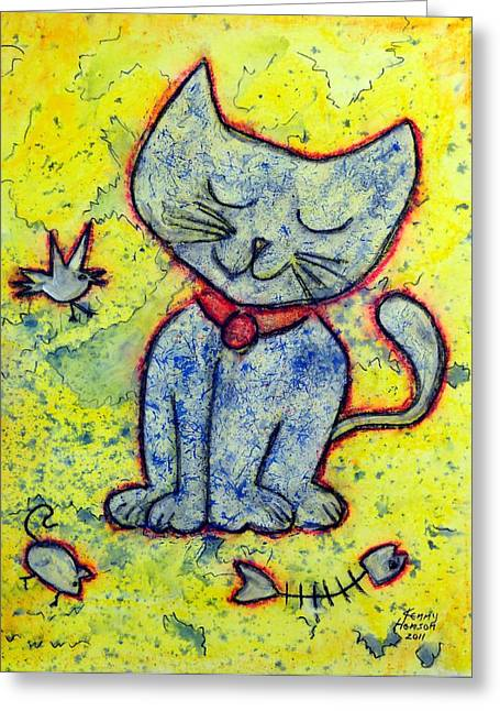 Happy Cat Number 1 Greeting Card