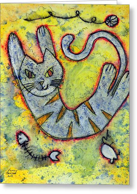 Happy Cat Number 2 Greeting Card