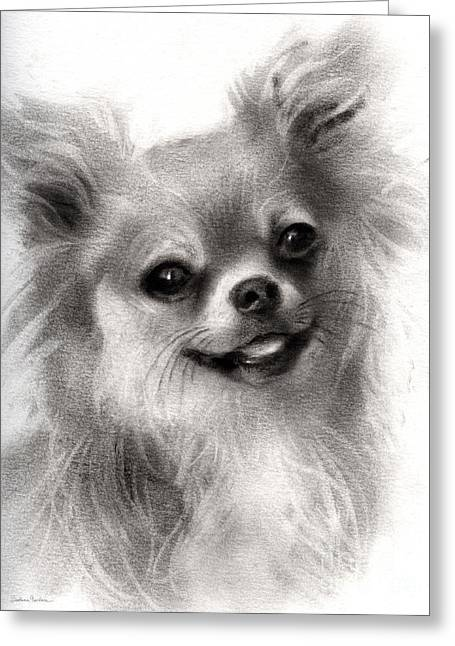 Happy Chihuahua Dog Portrait Greeting Card by Svetlana Novikova