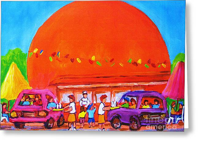 Happy Days At The Big  Orange Greeting Card by Carole Spandau