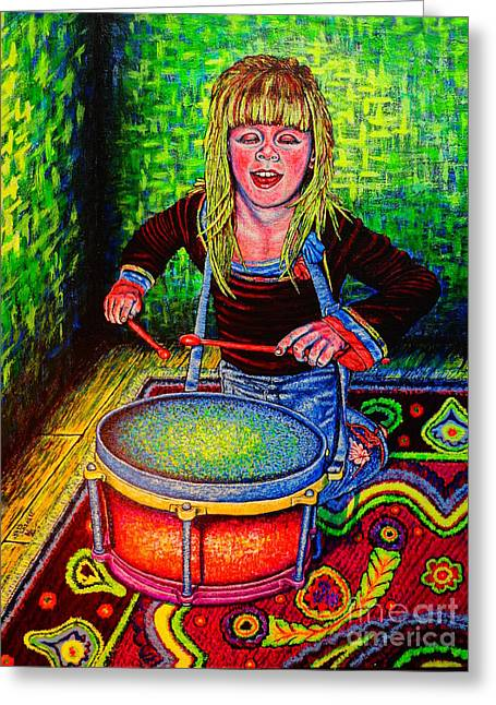 Happy Drummer Greeting Card
