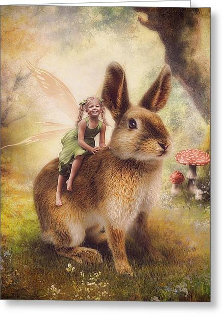 Happy Easter Greeting Card by Cindy Grundsten