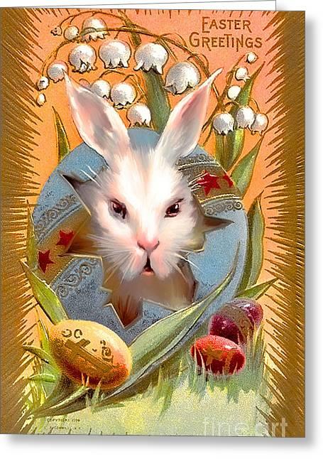 Happy Easter For All. Greeting Card by Andrzej Szczerski