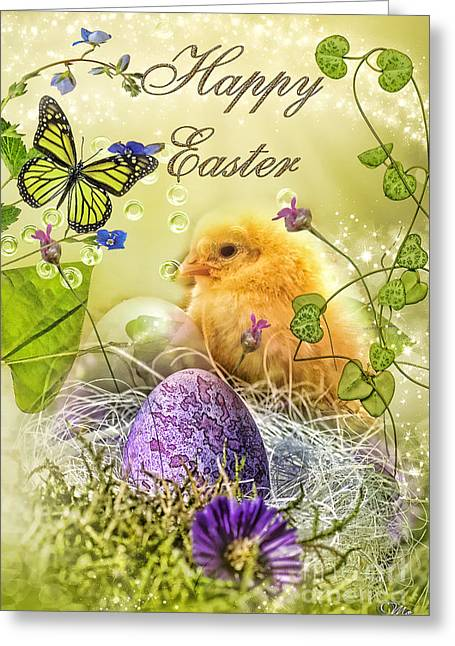 Happy Easter Greeting Card by Mo T