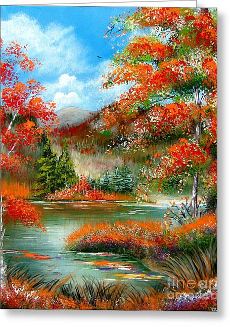 Greeting Card featuring the painting Happy Ever After Autumn  by Patrice Torrillo