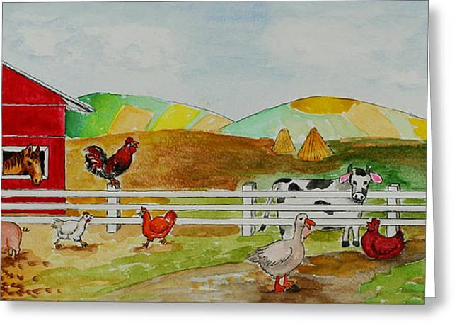 Happy Farm Greeting Card