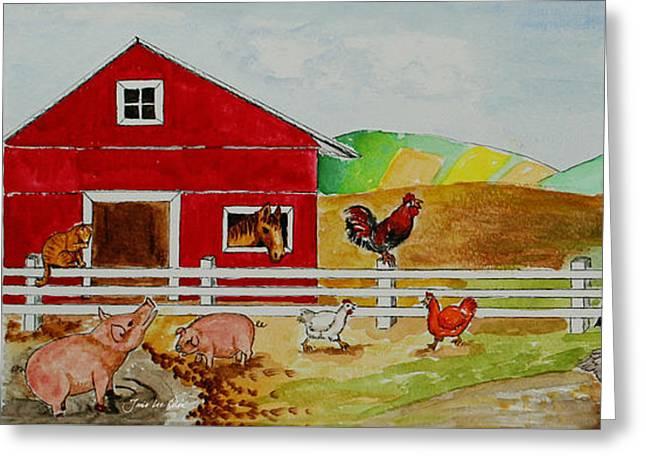 Happy Farm Greeting Card