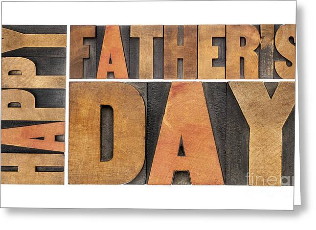 Greeting Card featuring the photograph Happy Father Day by Marek Uliasz