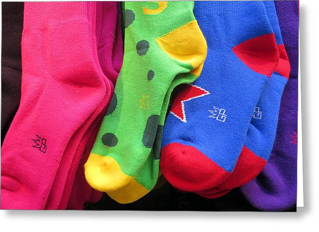 Greeting Card featuring the photograph Wear Loud Socks by Rick Locke