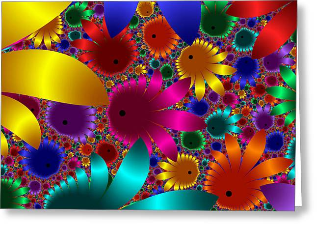 Happy Flowers Greeting Card by Svetlana Nikolova