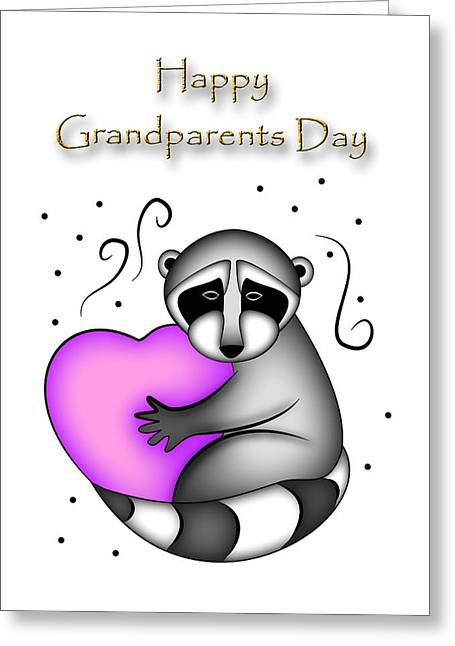 Happy Grandparents Day Greeting Card by Jeanette K