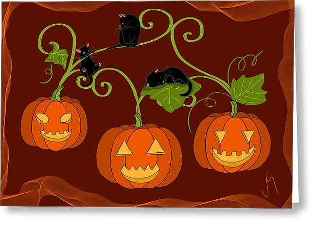 Happy Halloween Greeting Card by Veronica Minozzi