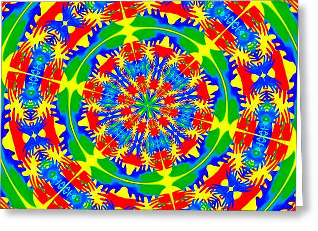 Happy Hands Mandala Greeting Card by Linda Weinstock