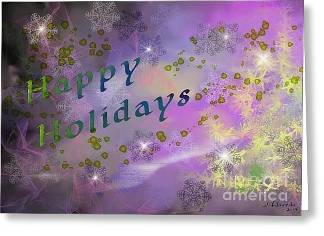 Happy Holidays Card Greeting Card by Judy Filarecki