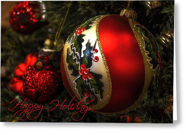Happy Holidays Greeting Card Greeting Card by Julie Palencia