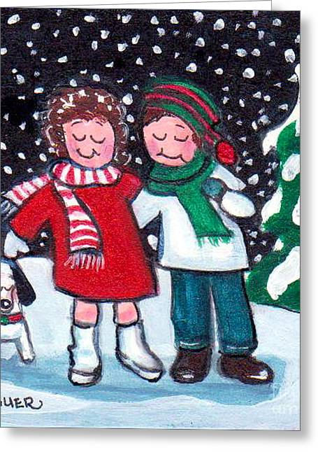 Greeting Card featuring the painting Happy Holidays by Joyce Gebauer