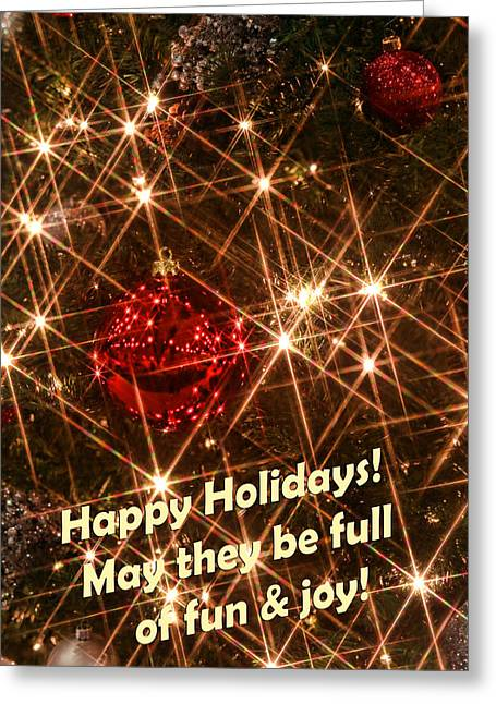 Happy Holidays Greeting Card by Linda Phelps