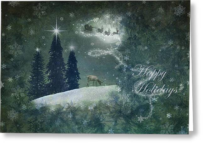 Happy Holidays Greeting Card by Marie  Gale