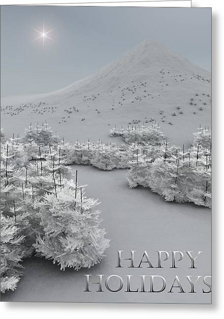 Happy Holidays Greeting Card by Richard Rizzo