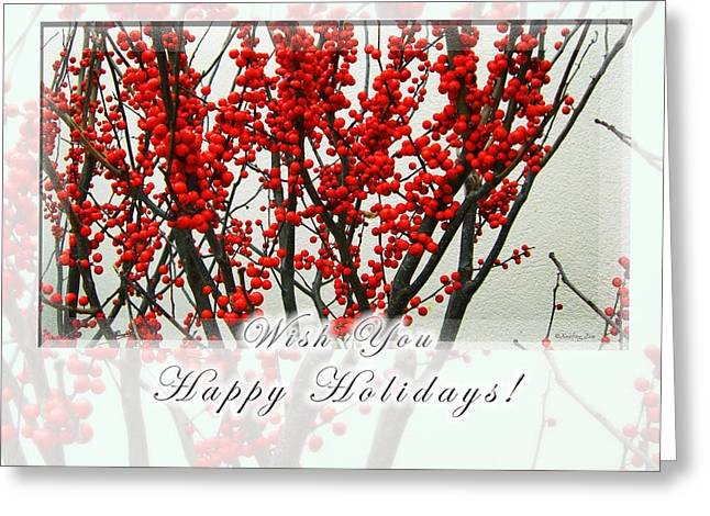 Happy Holidays Greeting Card by Xueling Zou
