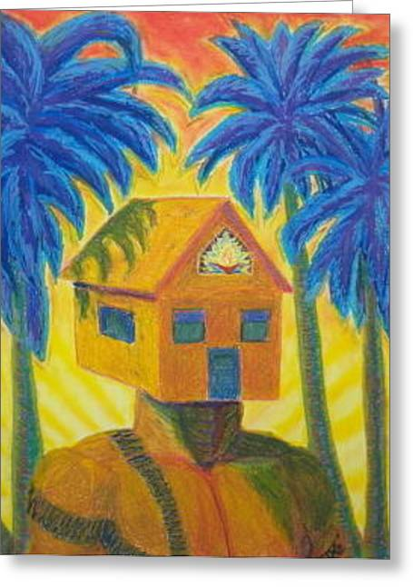 Happy Home Greeting Card by Dennis Goodbee