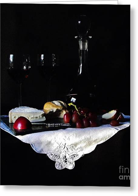 Happy Hour Greeting Card by Michelle Welles
