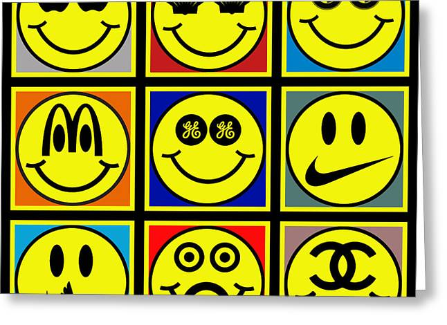 Happy Logos Greeting Card