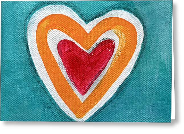 Happy Love Greeting Card by Linda Woods