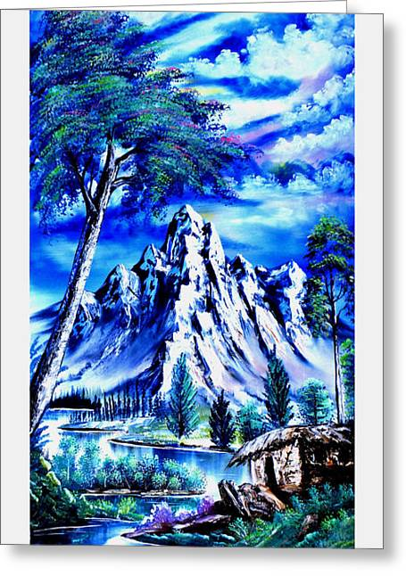 Happy Mountain  Greeting Card by Shirwan Ahmed