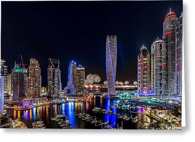 Happy New Year Dubai Greeting Card