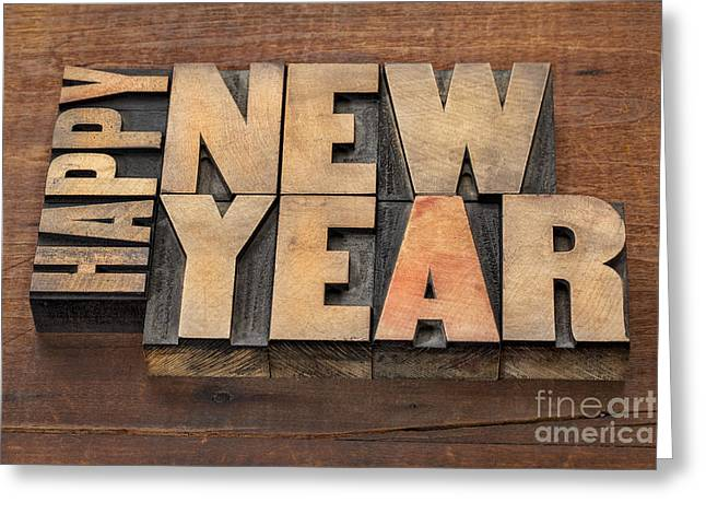 Greeting Card featuring the photograph Happy New Year by Marek Uliasz