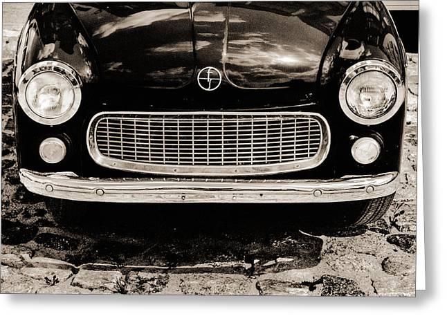 Happy Old Car Greeting Card by Arkady Kunysz