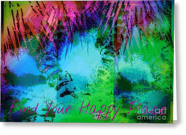 Happy Place 1 Greeting Card by Michelle Stradford
