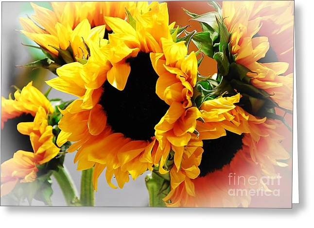 Happy Sunflowers Greeting Card