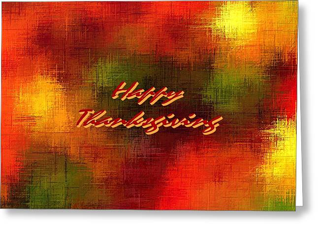 Happy Thanksgiving Earth Tones Greeting Card