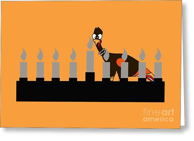 Happy Thanksgivukkah Menorah Greeting Card