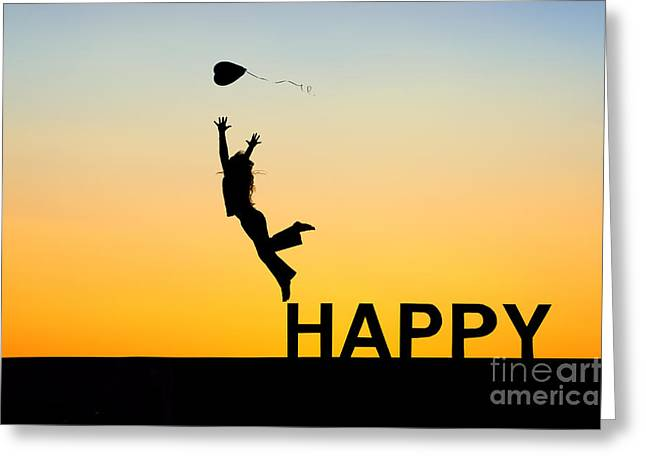 Happy Greeting Card by Tim Gainey