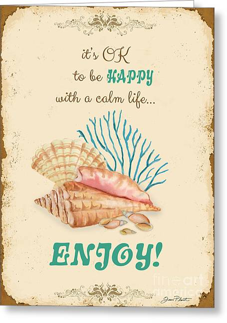 Happy To Be Calm Typography Greeting Card