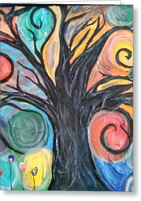 Happy Tree Greeting Card by Sarah Dufner
