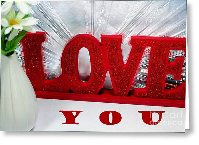 Happy Valentine's Day - Love - Forever Greeting Card by Barbara Griffin